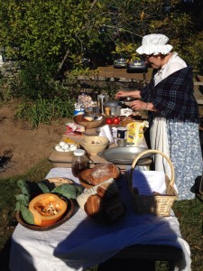 Garretson chef at open hearth cooking demonstration